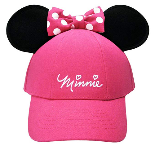 Disney Kids Hat Sassy Minnie with Ears Bow, Pink