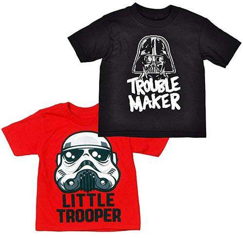 Star Wars Toddler  2 Pack T-Shirts Darth Vader &  Little Trooper Prints