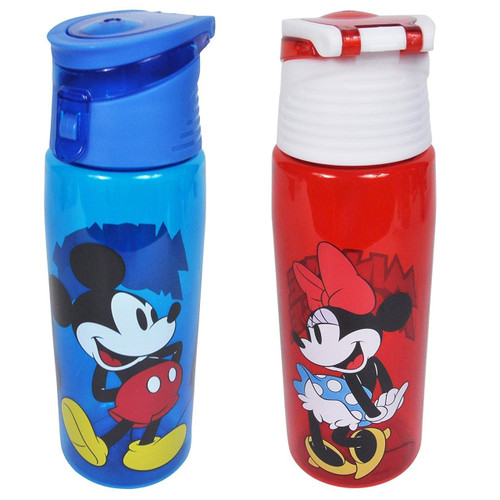 Disney 2 Pack  Mickey & Minnie Mouse  25 Ounce Tritan Water Bottle