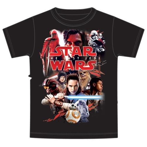The Last Jedi Red Album Star Wars Adult Tee, Black