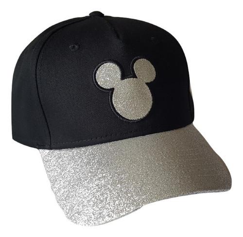 Disney Adult Hat Sequins Mickey Head, Black