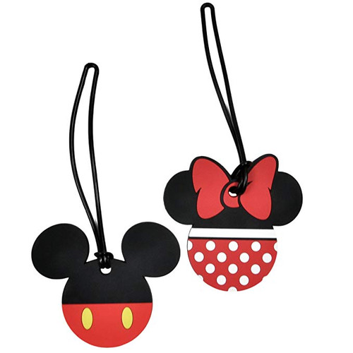 Disney Luggage Suitcase Tags Mickey & Minnie Mouse Body/Pants PVC (2 Pack)