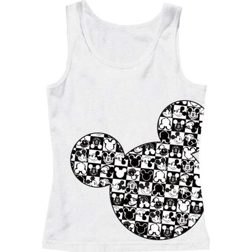 2d671a434df02 Disney Adult Womens Pajama Tank Checkers Mickey Head