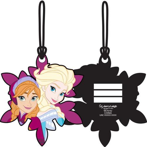 Disney Frozen Sisters Elsa Anna Laser Cut Luggage Tag
