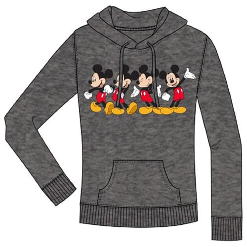 Disney Junior Mickey Happy Pullover Hoodie, Charcoal Gray