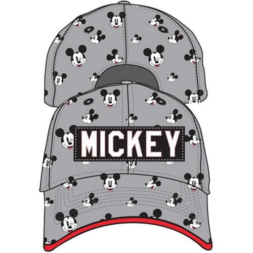 Disney Youth Mickey Reacts Baseball Hat, Gray Black