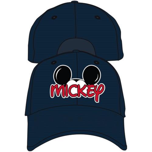 Disney Adult Mickey Fan Baseball Hat, Navy Blue
