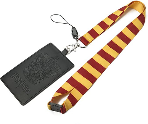 HARRY POTTER Gryffindor School Crest Lanyard with Multiple Card Holder Slots