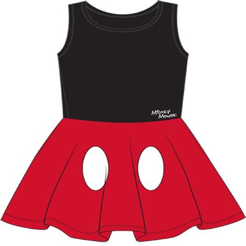 Disney Women Junior Mickey Mouse Dress Red Medium