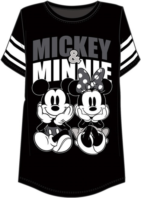 Disney Mickey and Minnie Mouse Women's Football Style T-Shirt