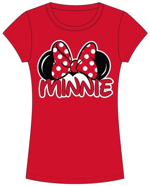 Disney Minnie Mouse Women Junior Cut Fashion T Shirt Family