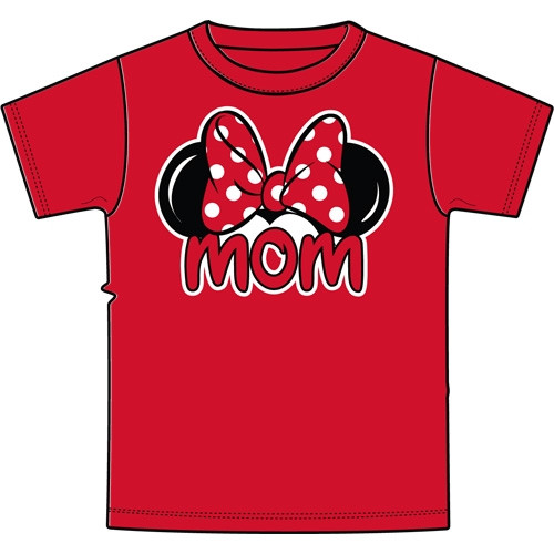 Disney Adult Plus Size Womens T-Shirt Mom Family Tee Red