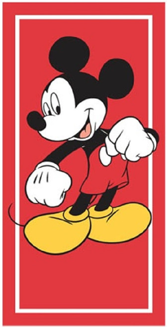 "Disney Mickey Mouse Beach Towel - Jumbo 58"" X 28"" Cotton Terry Pool Shower"