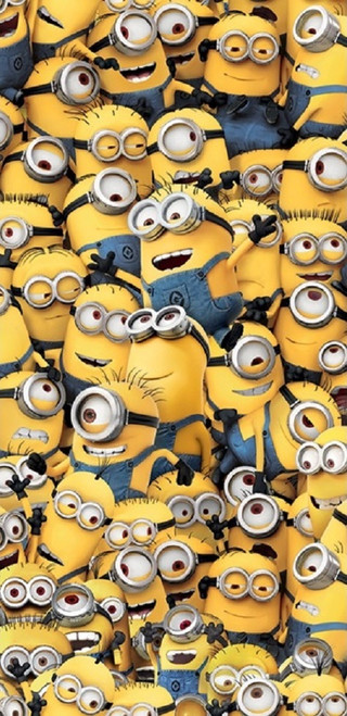 """Despicable Me Bunch of Minions Mingling Beach Towel  28"""" X 58"""""""