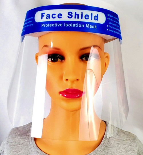 5 Pack  Face Shield with Adjustable Elastic Band