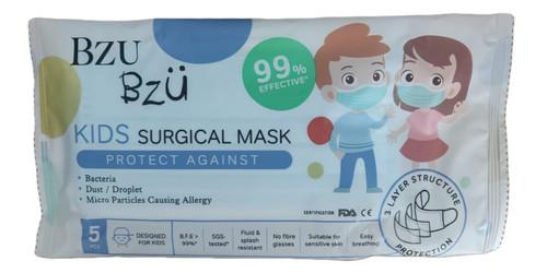 Kids Surgical 3-Ply  Mask (Pack of 5)
