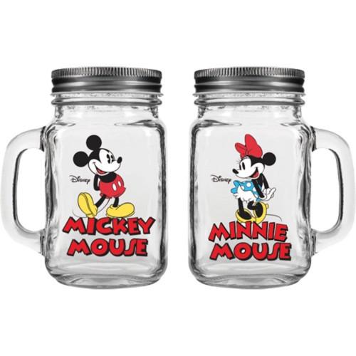 Mickey & Minnie Couple Jar Salt & Pepper Shaker, Clear
