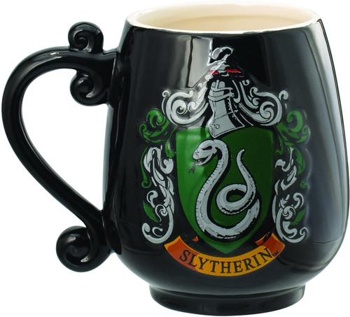 Harry Potter Slytherin Crest Ceramic Mug Decorative Mug,Black