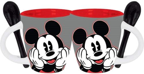 Good Day Mickey Mouse 4oz Espresso Mug, Gray Black