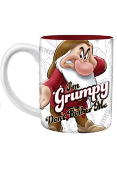Disney I'm Grumpy Don't Bother Me 14oz Relief Mug, Multicolored