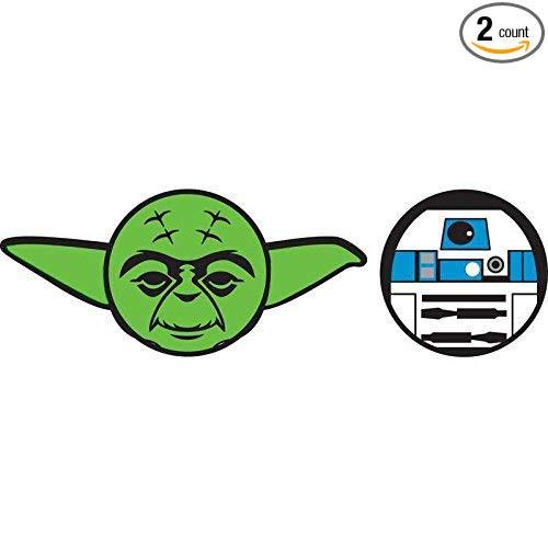 Star Wars Yoda R2D2 Antenna Topper - 2 pack