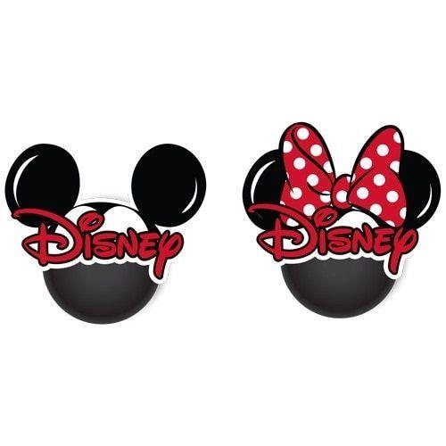 Disney Mickey Minnie Head 2pk Antenna Topper