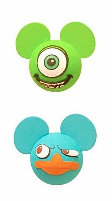 Disney Monsters Inc Mike and Agent Perry Antenna Toppers