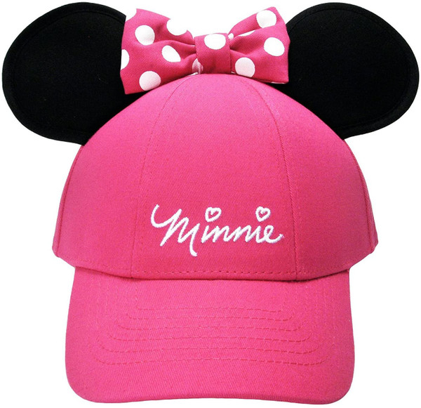 Disney Women's Minnie Mouse Cap with Bow & Ears Red