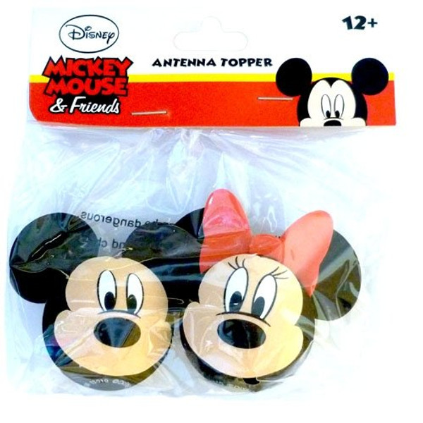 Mickey Mouse antenna topper and one Minnie Mouse antenna topper 2'' diameter Perfect for your trip to Disney! Made of durable foam Fits most car antennas Dress up your car antenna with your favorite Disney characters!
