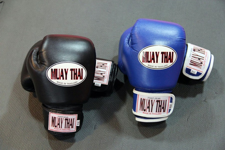 MUAY THAI BOXING GLOVES - WITH VELCRO STRAP
