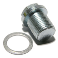 Sump Plug for Volvo with 17mm Hex Head, M18 thread.  Thread Length 18.5mm, Overall Length 28mm. Aluminium Washer 18 x 24 x 1.5 to DIN 7603