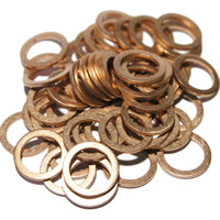 Copper Sump Plug Washers to fit Alfa Romeo, Fiat, Lancia & MB - OE 10261060