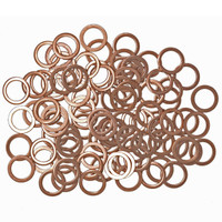 100 Copper Sump Washers: Mercedes, VW, Vauxhall, Mazda 007603 014 106 - SW7x100