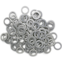 Aluminium Oil Drain Sump Plug Washer for Honda,  Rover,  Land Rover and MG vehicles - 100 pack