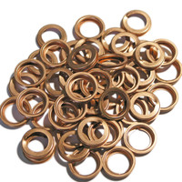 Nissan OE 1102601M02, Copper Folded Washers - 50 Pack