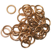 Peugeot Citroen 16454, Nissan 32135-AX001, Volvo 3121867, Renault 77 03 062 062, Dacia 8200 641 648 - SW12x50, 50 Pack OE Replacement Copper Filled Sump Washers