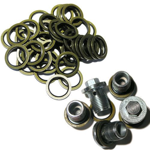 Vauxhall / Saab / GM / MAXI PACK - 5 Sump Plugs & 50 Sump Washers 93183669 93183670 - MP14