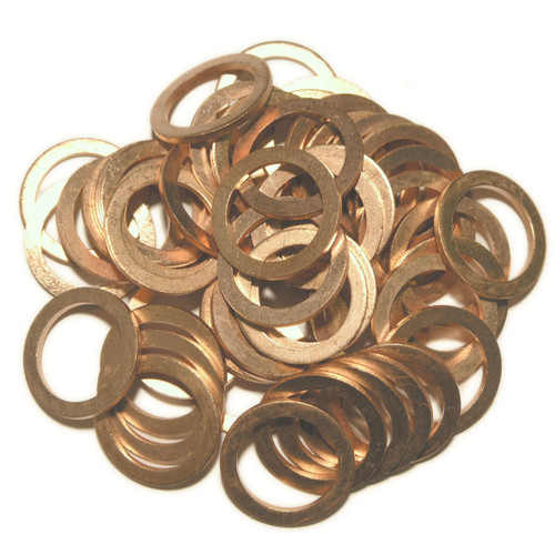 Alfa Romeo Fiat 10261660, SW13x50: 50 Pack of OE Replacement Copper Sump Washers