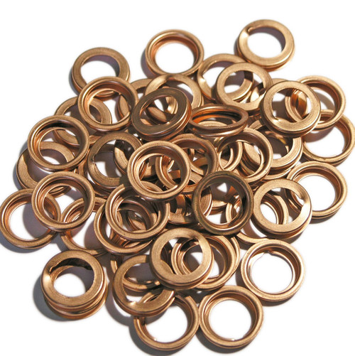 Copper Folded Washers 11 x 17 x 3 mm