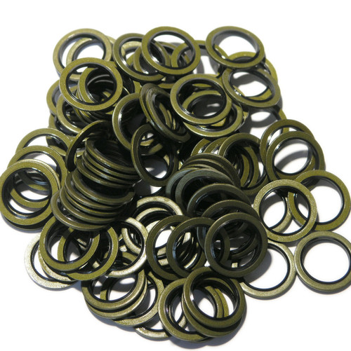 100 Washers - Bonded Seal for GM, Vauxhall, Opel and Saab