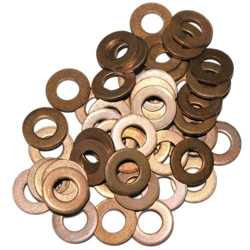 Peugeot 0313.40  / 0313.33 New Mini 11137804900 Ford / Volvo 1 145 962 Mazda Y401-10-4J5 Land Rover LR006295O - SW5x50: 50 Pack of Copper Sump Washers