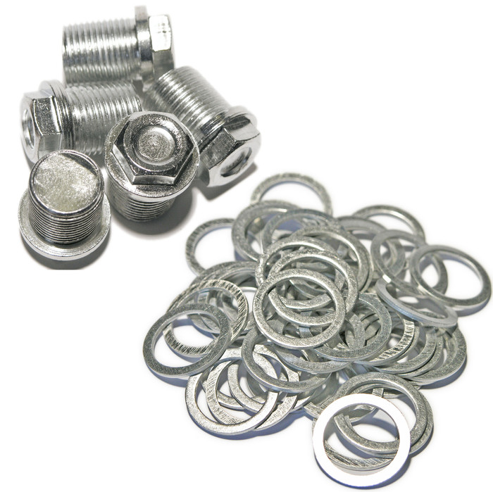 Volvo - MAXI PACK 8 - 5 Sump Plugs & 50 Washers - S60 V70 XC90 S80 XC70 OE978138-6 - MP8