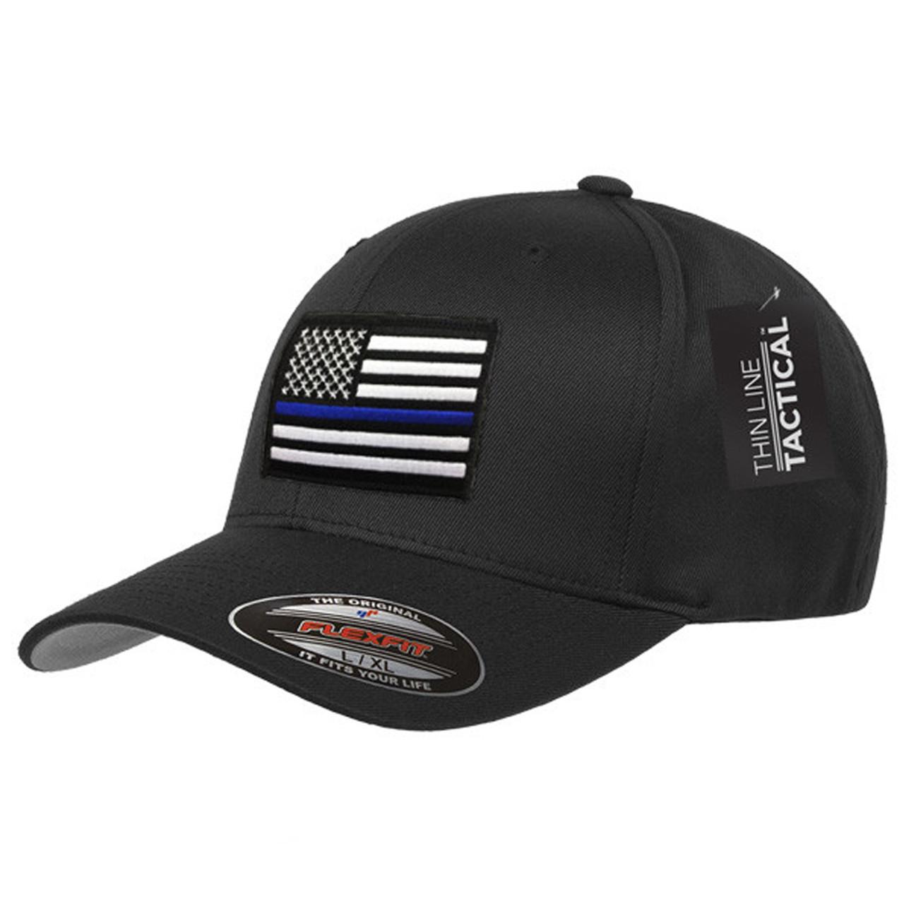 Thin Blue Line Blue Patch FlexFit Hat - Atlantic Tactical Inc 928a60a324c8