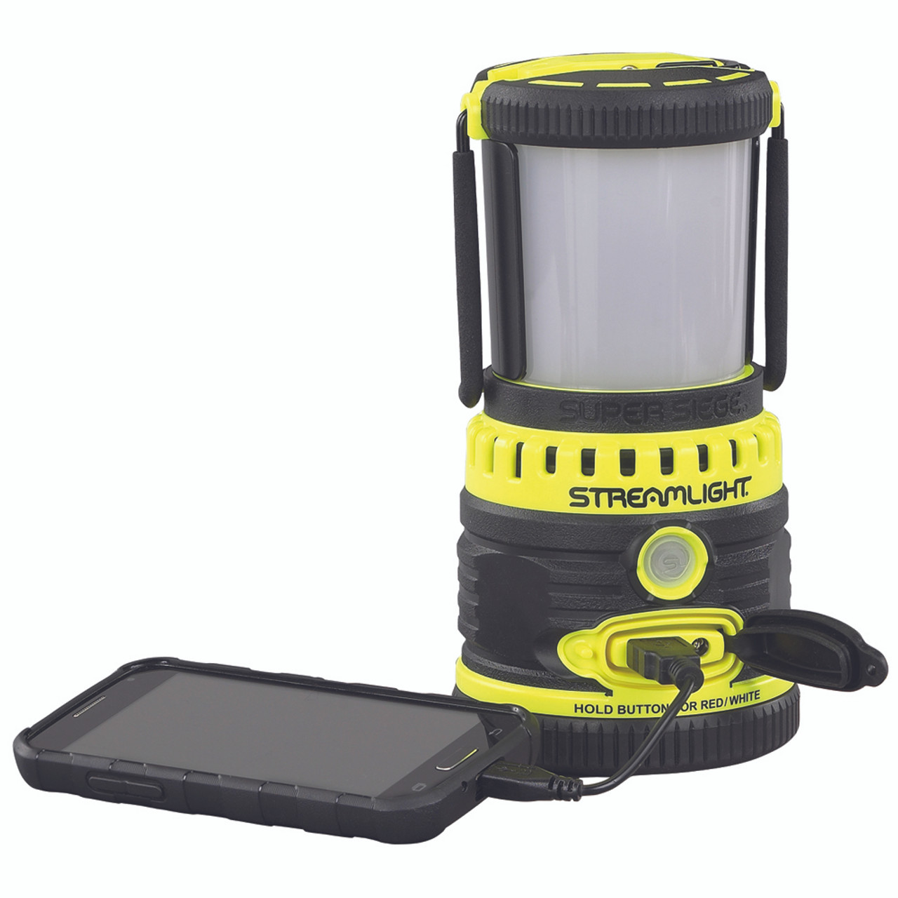 Super Siege 120V AC Rechargeable Scene Light//Work Lantern and Portable USB Charg
