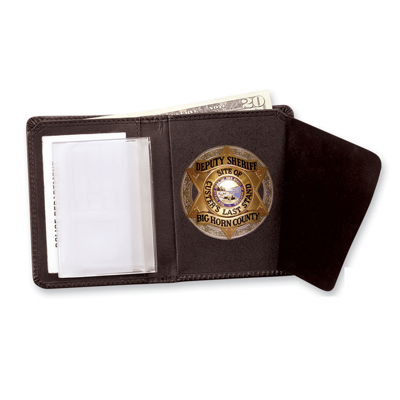 Strong Leather 79520 Oval Hidden Police Badge Wallet