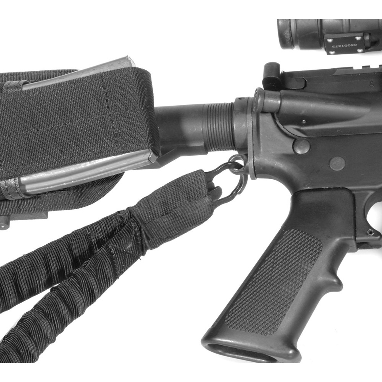 US Tactical 1 Single Point Sling for Rifle Gun with Ambidextrous Mount Adapter