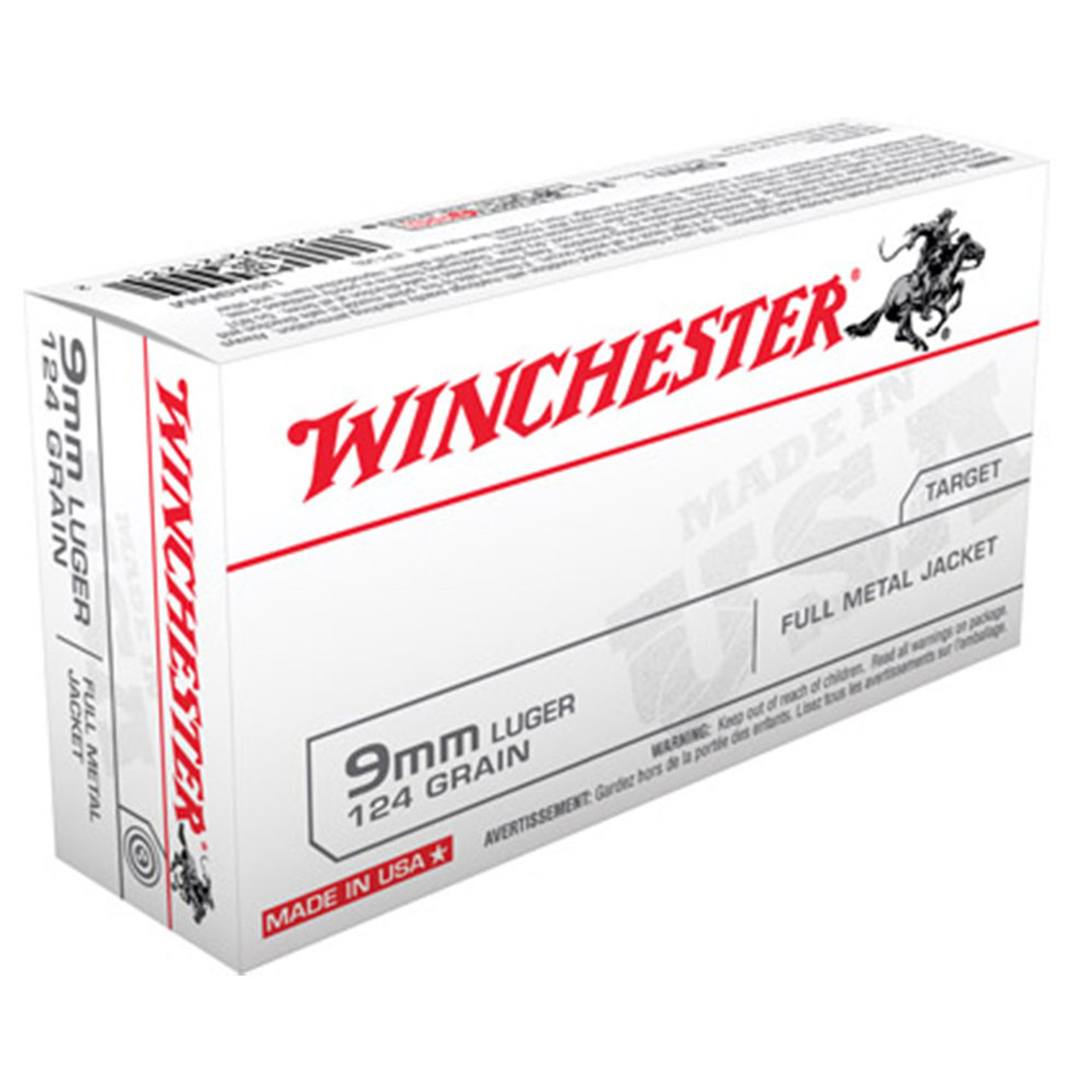 Winchester 9mm 124gr  Full Metal Jacket