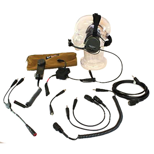 TCI Liberator III Dual Comm Headset - COMM Links, Cable Kit, Case