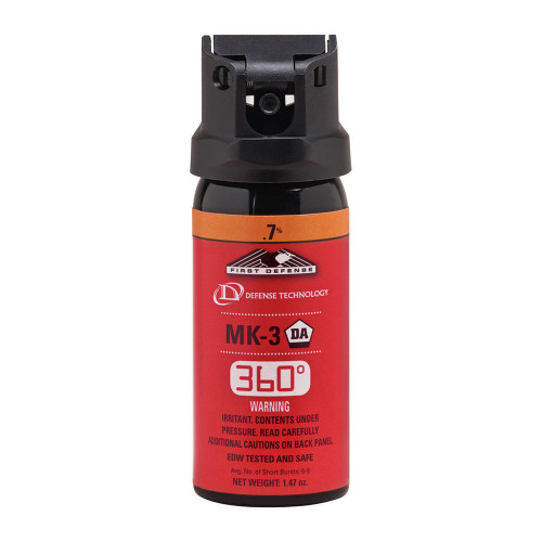 Def-Tec First Defense 360° .7% MK-3 Stream OC Aerosol
