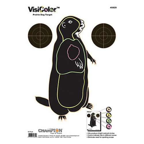 Champion Target VisiColor Prairie Dog - 10 Pack